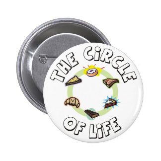 Circle of Life: Food, Meal, Dinner and Dessert Pinback Buttons