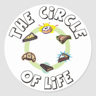 Circle of Life Food Meal Dinner and Dessert Stickers