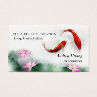 Circle of Life Oriental Zen Feng Shui Koi & Lotus Business Card