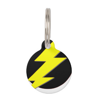 Circle of Lightning Pet ID Tag