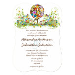 Circle of Love Flower Tree Wedding Invitation 13 Cm X 18 Cm Invitation Card