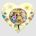 Circle of Love Flower Tree Wedding Stickers Seals
