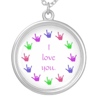 Circle of love, sign language hands necklace