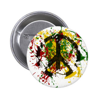 Circle of Peace Paint 6 Cm Round Badge
