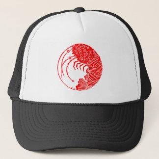 Circle of shrimp trucker hat