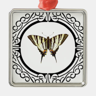 circle of the butterfly metal ornament