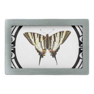 circle of the butterfly rectangular belt buckle