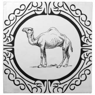 circle of the camel napkin