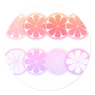 Circle paper greeting with Citruses Card