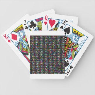 circle  pattern bicycle playing cards