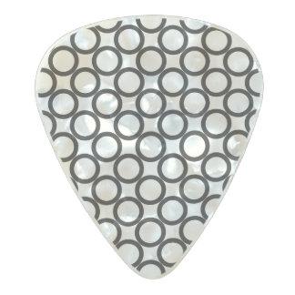 Circle Pattern design Pearl Celluloid Guitar Pick