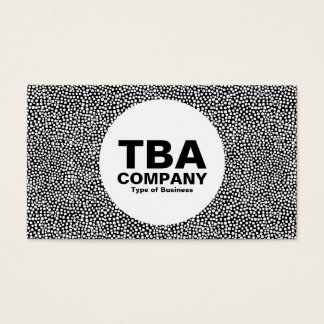 Circle - Random Spots - White on Black Business Card