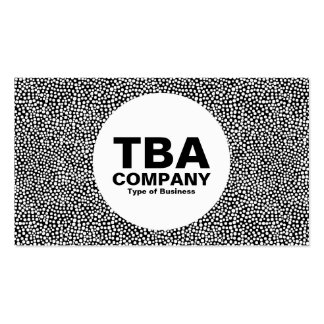 Circle - Random Spots - White on Black Pack Of Standard Business Cards