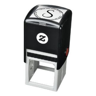 Circle Return Address Monogram Self Inking Stamp