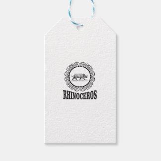 Circle Rhino Gift Tags