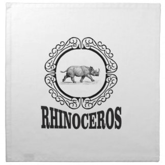 Circle Rhino Napkin