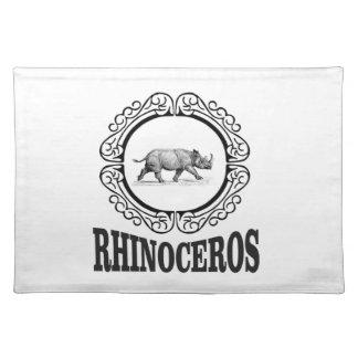 Circle Rhino Placemat