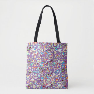 Circle / Rings - Dots colored + your backg. & idea Tote Bag