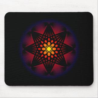 Circle Rune Grid Pattern Mouse Pad