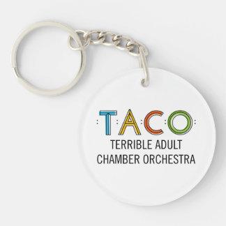 Circle (Single-Sided) TACO Keychain