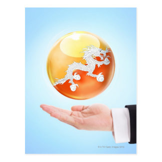 circle, sphere, orb, ball, hand, male, office postcard