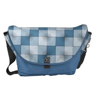 Circle-Squares petrol blue Messenger Bag