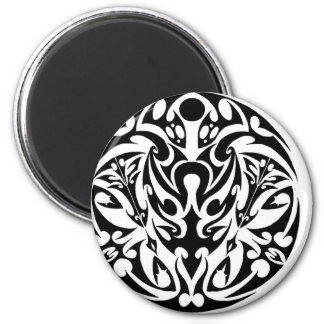 circle tribal tattoo design 6 cm round magnet