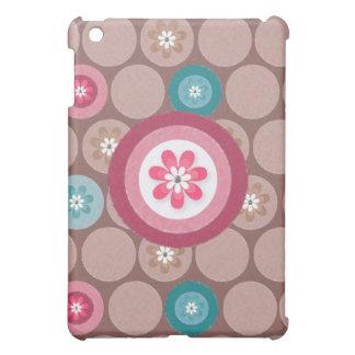 Circle Vintage Design Mint Colour iPad Mini Case