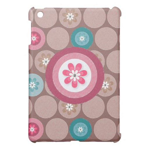 Circle Vintage Design Mint Colour Cover For The iPad Mini