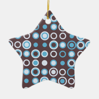 Circle vintage pattern ceramic star decoration
