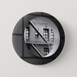 Circle With Fire Escape 6 Cm Round Badge