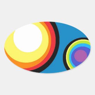 Circle World Oval Sticker