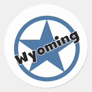 Circle Wyoming Round Sticker