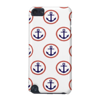 Circled Anchors Nautical Pattern iPod Touch 5G Cover