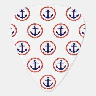 Circled Anchors Nautical Pattern Plectrum
