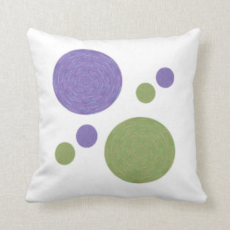 Circled Blue, Green Pattern American MoJo Pillow Cushion