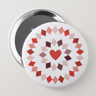 Circled Heart 10 Cm Round Badge