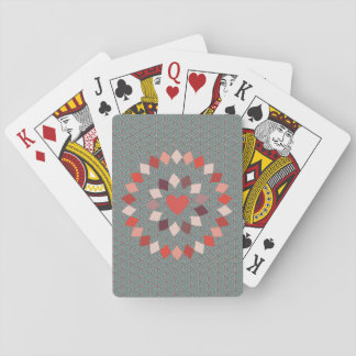 Circled Heart Playing Cards