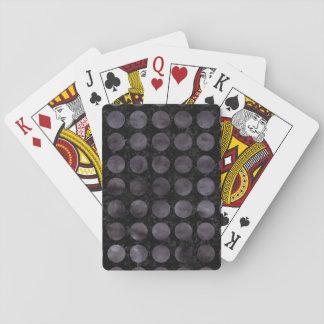 CIRCLES1 BLACK MARBLE & BLACK WATERCOLOR PLAYING CARDS