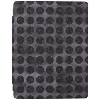 CIRCLES1 BLACK MARBLE & BLACK WATERCOLOR (R) iPad SMART COVER