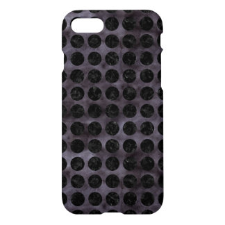 CIRCLES1 BLACK MARBLE & BLACK WATERCOLOR (R) iPhone 8/7 CASE