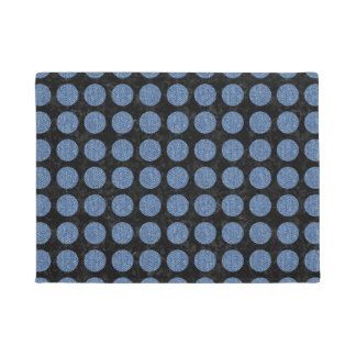 CIRCLES1 BLACK MARBLE & BLUE DENIM DOORMAT
