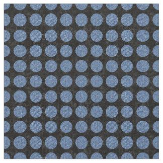 CIRCLES1 BLACK MARBLE & BLUE DENIM FABRIC