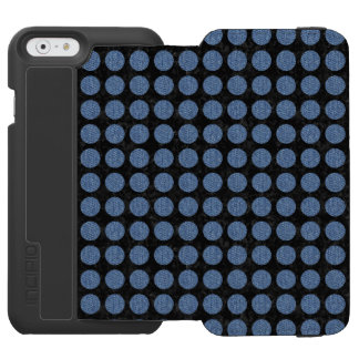 CIRCLES1 BLACK MARBLE & BLUE DENIM INCIPIO WATSON™ iPhone 6 WALLET CASE