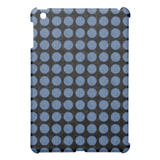 CIRCLES1 BLACK MARBLE & BLUE DENIM iPad MINI CASE