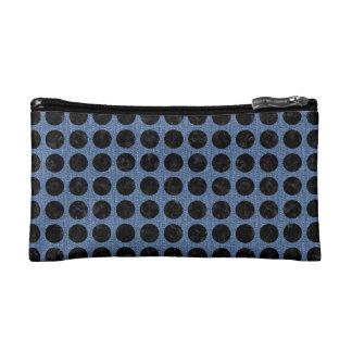 CIRCLES1 BLACK MARBLE & BLUE DENIM (R) COSMETIC BAG