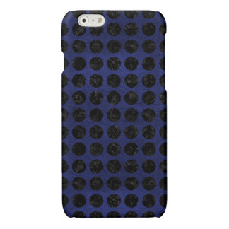 CIRCLES1 BLACK MARBLE & BLUE LEATHER (R)