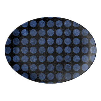 CIRCLES1 BLACK MARBLE & BLUE STONE PORCELAIN SERVING PLATTER