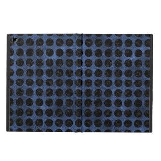 CIRCLES1 BLACK MARBLE & BLUE STONE (R) iPad AIR COVER