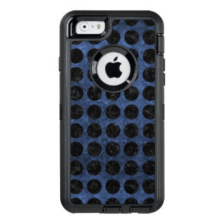 CIRCLES1 BLACK MARBLE & BLUE STONE (R) OtterBox DEFENDER iPhone CASE